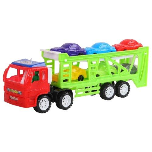 Набор машин Джамбо Тойз Автотрейлер (JB5300116) недорого