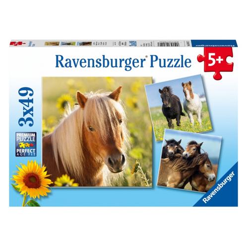 Купить Набор пазлов Ravensburger Пони (08011), Пазлы