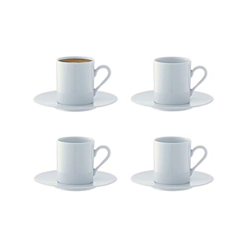 LSA Набор кофейных пар Dine 90 мл, 4 шт белый lsa набор кофейных пар fir metallic 4 предмета 100 мл белый золотистый