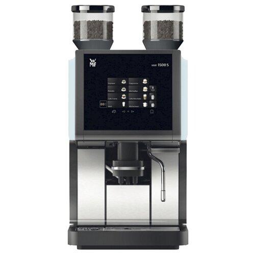 Кофемашина WMF 1500 S 03.1900.0050, черный/серебристый/голубой
