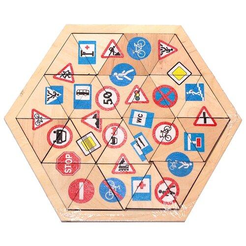 Купить Рамка-вкладыш Десятое королевство Дорожные знаки (00782), 24 дет., Пазлы