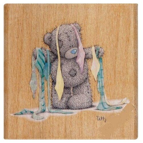 Фото - Штамп деревянный Весь в галстуках DOCRAFTS, 1 шт * MTY906105 штамп добрые слова home for christmas docrafts 15 2 х 15 2 см 1 шт pma907153