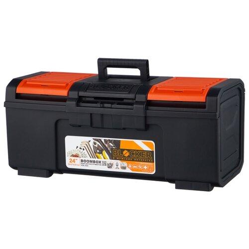 Ящик с органайзером BLOCKER Boombox BR3942 59x27x25.5 см 24'' черный/оранжевый ящик с органайзером blocker master br6006 61x32x30 см 24 серо свинцовый оранжевый