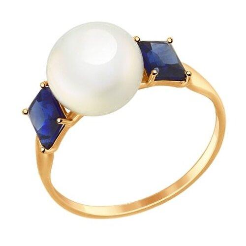 SOKOLOV Кольцо из золота с жемчугом и корундом 791038, размер 18 sokolov кольцо из золота с жемчугом и корундом 791038 размер 18