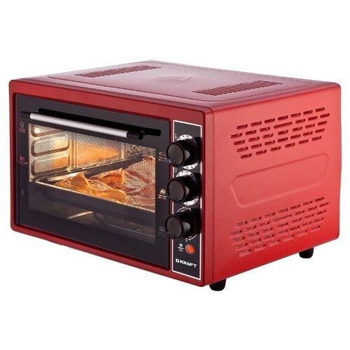 Фото - Мини-печь KRAFT KF-MO 3804 RK красный мини печь kraft kf mo 4506 красный