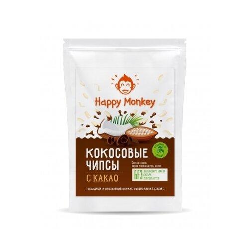 Кокосовые чипсы Happy Monkey с какао 40 г