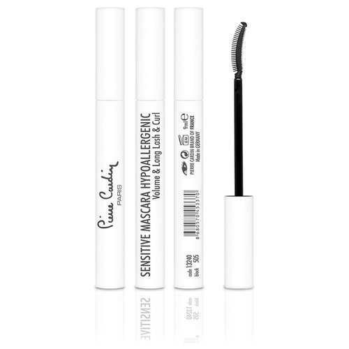Pierre Cardin Тушь для ресниц Sensitive Anti-Allergic Volume & Long Lash & Curl Mascara, 505 black