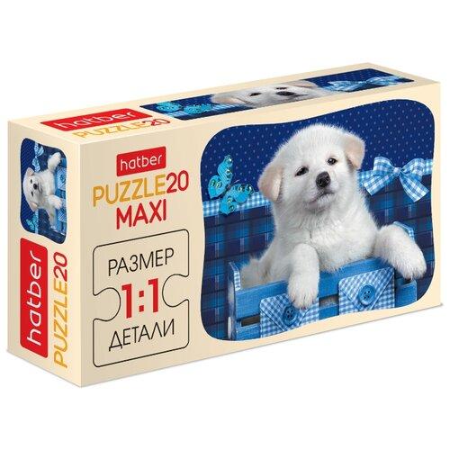 Купить Пазл Hatber Maxi Белый щенок (20ПЗ5_15000), 20 дет., Пазлы