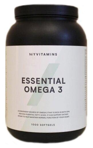 Омега жирные кислоты Myprotein Essential Omega-3 (1000 капсул) — купить по выгодной цене на Яндекс.Маркете