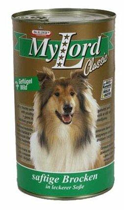 Корм для собак Dr. Alder`s МОЙ ЛОРД КЛАССИК птица + дичь кусочки в желе Для взрослых собак (1.24 кг) 6 шт.
