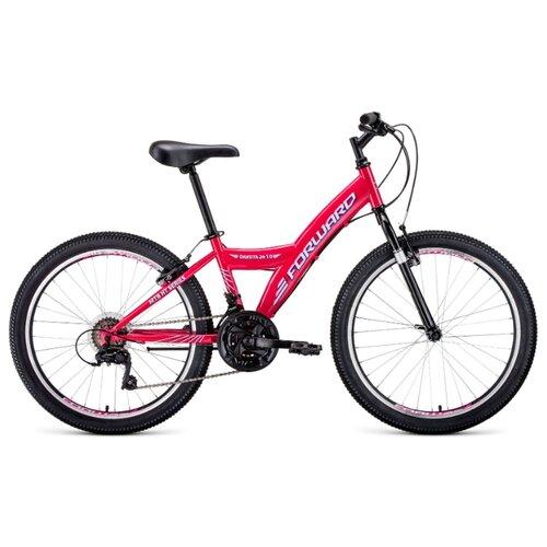 Подростковый горный (MTB) велосипед FORWARD Dakota 24 1.0 (2020) розовый/белый 13 (требует финальной сборки) подростковый горный mtb велосипед forward dakota 24 1 0 2020 черный 13 требует финальной сборки