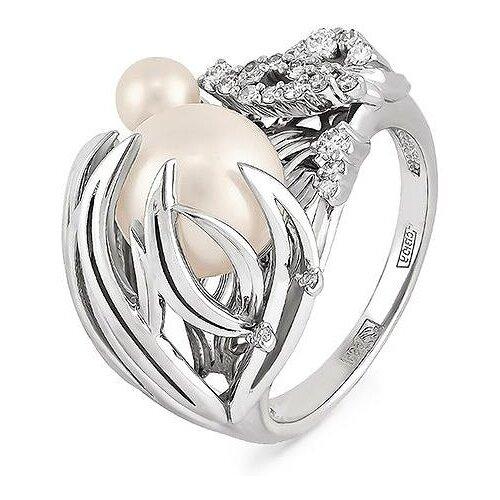 KABAROVSKY Кольцо с жемчугом и бриллиантами из белого золота 21-1031-1500, размер 18 по цене 100 950