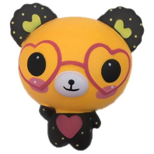 Игрушка-мялка 1 TOY Мммняшка Squishy Медвежонок в очках бежевый/черный