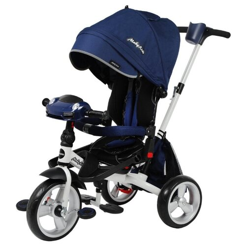 Купить Трехколесный велосипед Moby Kids New Leader 360° 12x10 Eva Car синий, Трехколесные велосипеды
