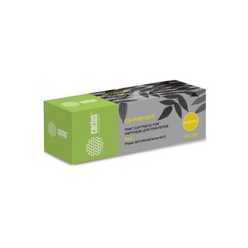 Фото - Картридж лазерный Cactus 106R03695 CS-PH6510XY желтый (4300стр.) для Xerox Phaser 6510/WC6515 картридж cactus cs ph6000bk для xerox 6000 6010 черный 2000стр