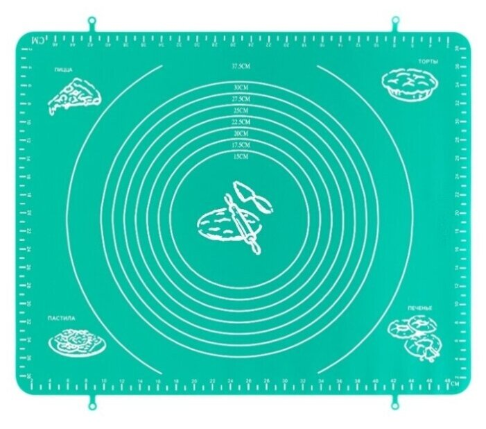 Купить Коврик для раскатки теста и выпечки 50х40 см Elan Gallery Морская волна по низкой цене с доставкой из Яндекс.Маркета