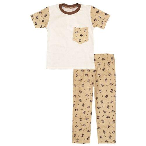 Купить Пижама KotMarKot размер 104, белый/бежевый, Домашняя одежда