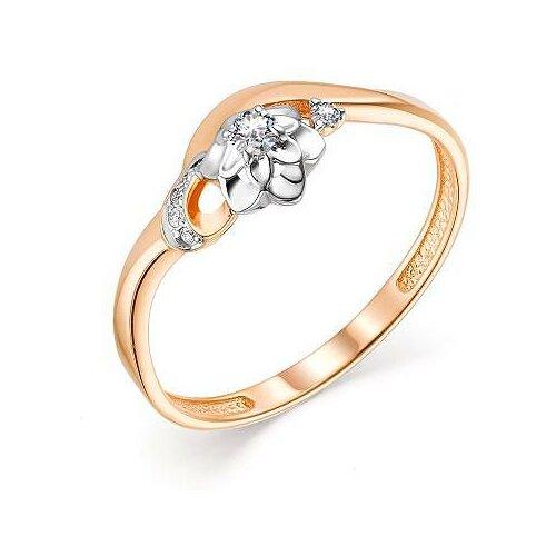 АЛЬКОР Кольцо с 5 бриллиантами из красного золота 13598-100, размер 16 лукас кольцо с 6 бриллиантами из красного золота r01 d rr01008adi r17 размер 16 5