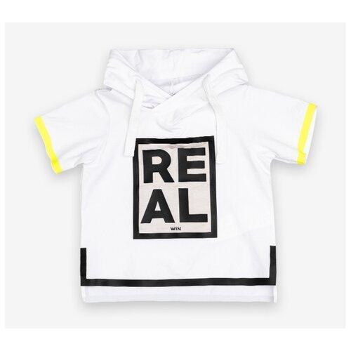 Купить Футболка Gulliver Baby, размер 86, белый/желтый/черный, Футболки и рубашки