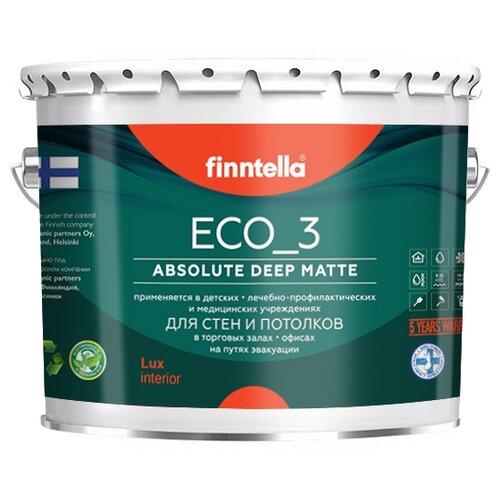 Фото - Краска акриловая finntella Eco_3 Wash and Clean влагостойкая моющаяся матовая бесцветный 2.7 л краска акриловая alpina долговечная фасадная влагостойкая матовая бесцветный 2 35 л