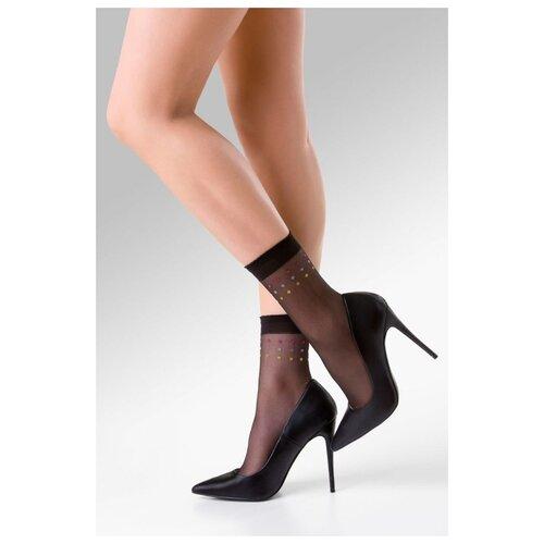 Gabriella Женские носочки Sally в разноцветный горошек , черный