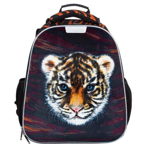 Купить №1 School ранец Basic Тигренок (1031324), черный/оранжевый, Рюкзаки, ранцы
