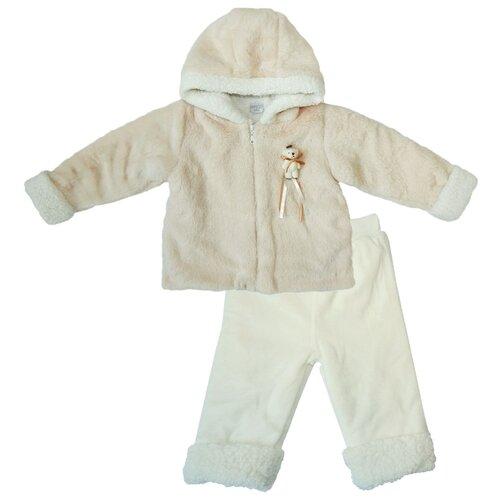 Купить Комплект с брюками Папитто размер 80, бежевый/экрю, Комплекты верхней одежды