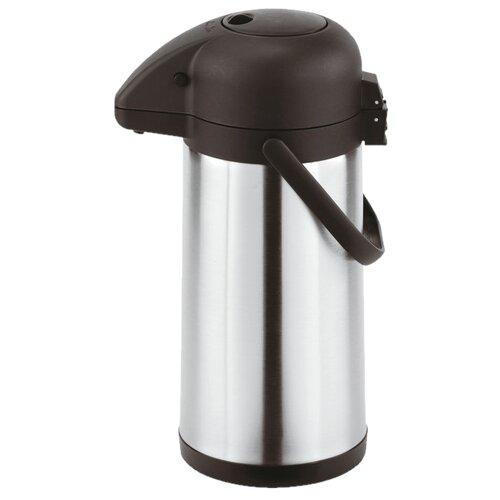 Помповый термос Paderno 42400-25, 2.5 л серебристый