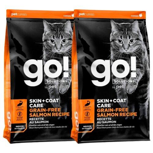 Сухой корм для кошек GO! с лососем 2шт. х 7.26 кг