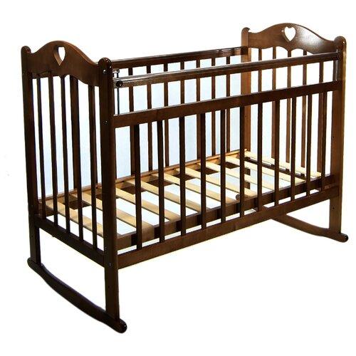 Купить Кроватка everflo Pali (ES-001) (качалка), на полозьях chocolate, Кроватки