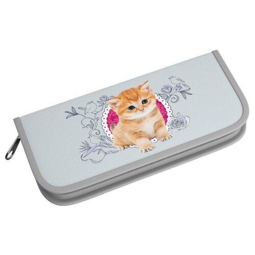 Купить ErichKrause Пенал-книжка Cute Cat (42342) серый, Пеналы