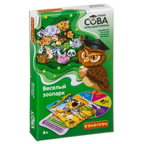 Купить Настольная игра BONDIBON Умная сова. Веселый зоопарк ВВ4003, Настольные игры