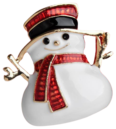 Queen fair Брошь Новогодняя сказка снеговичок 2291602