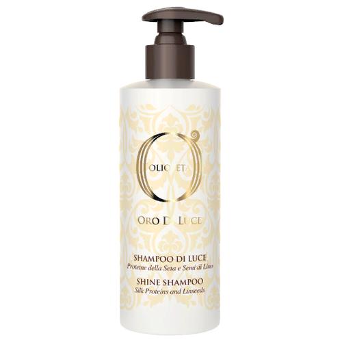 Купить Barex шампунь-блеск Olioseta Oro Di Luce Shine Shampoo с протеинами шелка и семенем льна 750 мл с дозатором