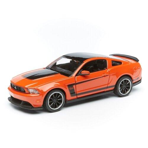 Купить Maisto Машинка Ford Mustang Boss 302 1:24, оранжевая, Машинки и техника