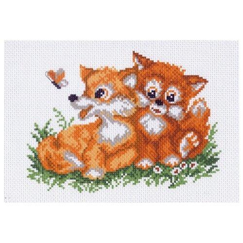 Купить Лисички Рисунок на канве 28/37 28х37 (14х19) Матренин Посад 1017-1, Матрёнин Посад, Канва