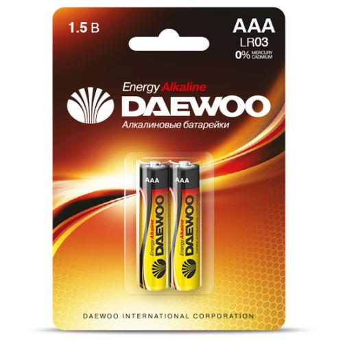 Фото - Батарейка Daewoo ENERGY LR03 AAA BL2 Alkaline 1.5V - 2 шт. батарейка aaa ergolux lr03 alkaline bl 4 lr03 bl 4