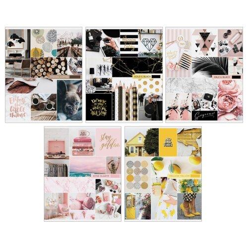 ArtSpace Упаковка тетрадей Стиль. Выбери свой цвет Т48кГЛ_18842, 10 шт./5 дизайнов, клетка, 48 л., Тетради  - купить со скидкой