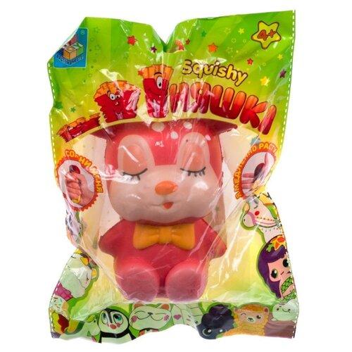 Игрушка-мялка 1 TOY Олененок Т15867 розовый