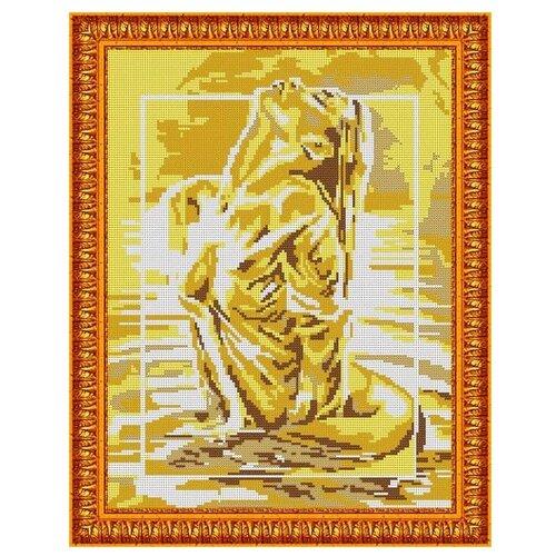 Светлица Набор для вышивания бисером Девушка 30 х 38 см, бисер Чехия (568П)
