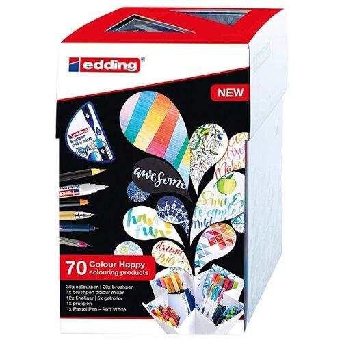 Купить Edding Набор для рисования Colour Happy Big (1183494), 70 шт разноцветный, Фломастеры и маркеры