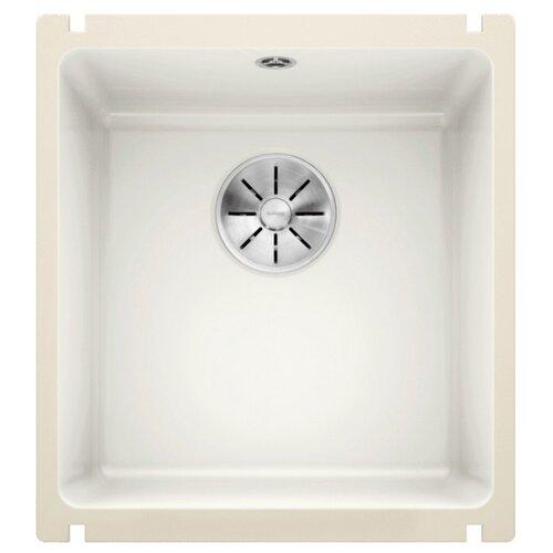 Врезная кухонная мойка 40.4 см Blanco Subline 375-U Ceramic PuraPlus с клапаном-автоматом 523726 белый кухонная мойка blanco axon ii 6 s керамика чаша справа черный puraplus с клапаном автоматом