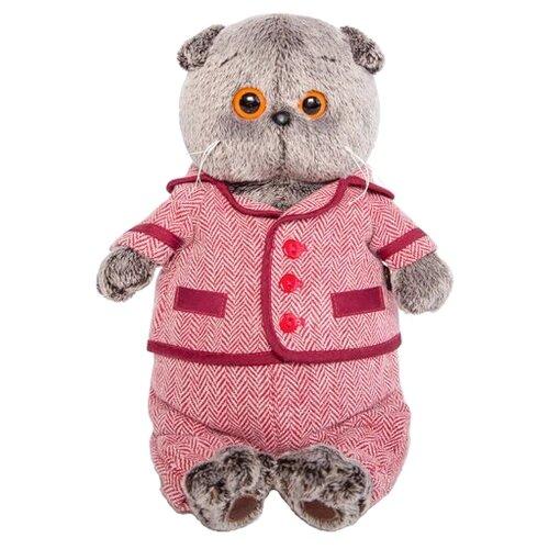 Фото - Мягкая игрушка Basik&Co Кот Басик в красном пиджаке и брюках в ёлочку 19 см кот в пиджаке