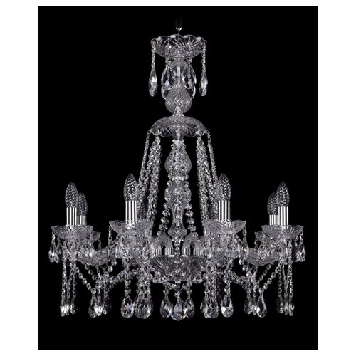 Люстра Bohemia Ivele Crystal 1413/8/220/XL-73/Ni, E14, 320 Вт штоф eskymos crystal bohemia 8 марта женщинам