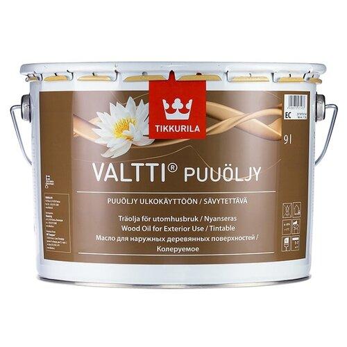 Масло-воск Tikkurila Valtti Puuöljy, бесцветный, 9 л