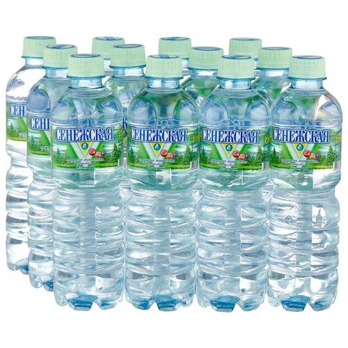 Вода минеральная Сенежская негазированная, ПЭТ, 12 шт. по 0.5 л