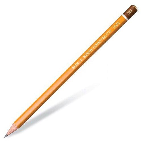 KOH-I-NOOR Чернографитный карандаш 1 шт 1500 (150003B01170RU) карандаш чернографитный koh i noor 1500 2h деревянный лакированный корпус 1500 2h