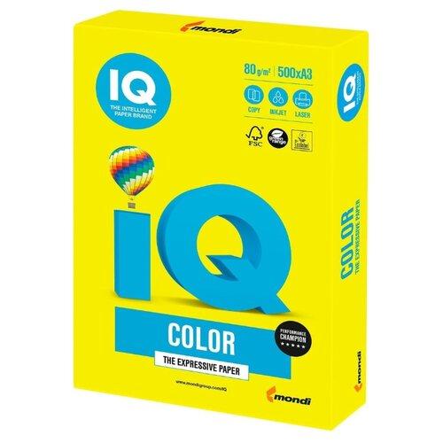 Фото - Бумага IQ Color A3 80 г/м² 500 лист. желтый неон NEOGB 1 шт. бумага iq color а4 80 г м² 100 лист розовый неон neopi 1 шт