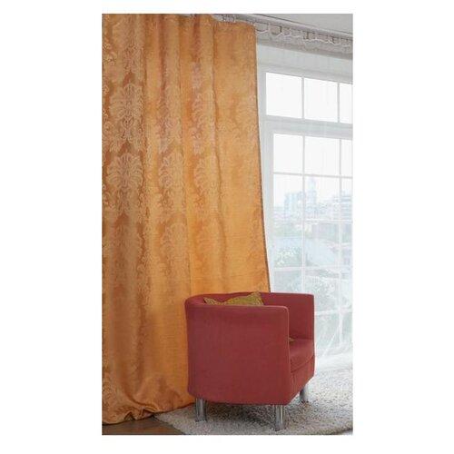 Фото - Портьеры Этель Дамаск на ленте 280 см amber портьеры миртек madras на ленте 280 см d9480 кофе смолоком