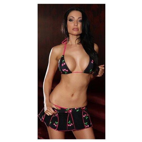 цена на Купальник мини-бикини Hustler размер S/M черный/розовый